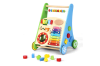 Wooden Baby Toddler Push Walker with Toys
