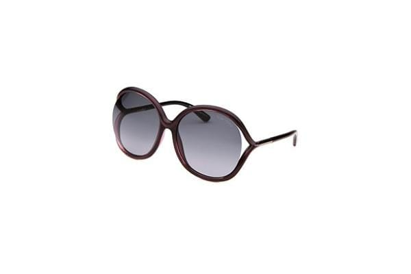 Tom Ford Women's Round Purple Sunglasses (FT252-05B-59-16-125)