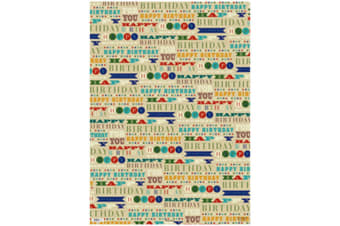 Simon Elvin 24 Sheets Designer Male Gift Wraps (Natural)