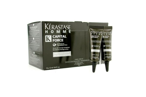Kerastase Homme Capital Force Revitalising Massage Rinse-Out Serum (15x12ml/0.4oz)
