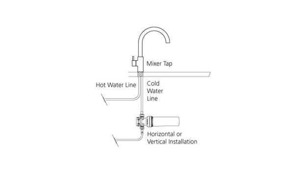 Oliveri Inline Water Filtration System For Harsh Water Use (FS5050)
