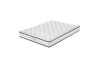 Comforpedic Mattress 5 Zone Euro Top Medium Support Bonnell Spring 21CM - Single - White, Black