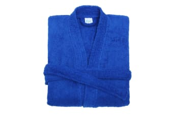 Comfy Unisex Co Bath Robe / Loungewear (Royal Blue)