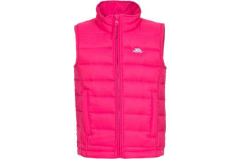 Trespass Childrens/Kids Jadda Quilted Sleeveless Gilet (Pink Lady) (11-12 Years)
