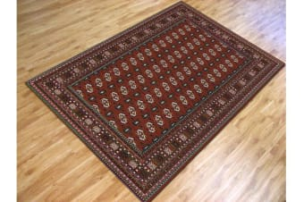 Traditional Rug Burgundy and Black 280x190cm