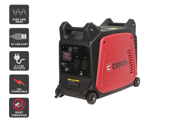 Certa Portable 3.5kVA Inverter Generator with Remote Start