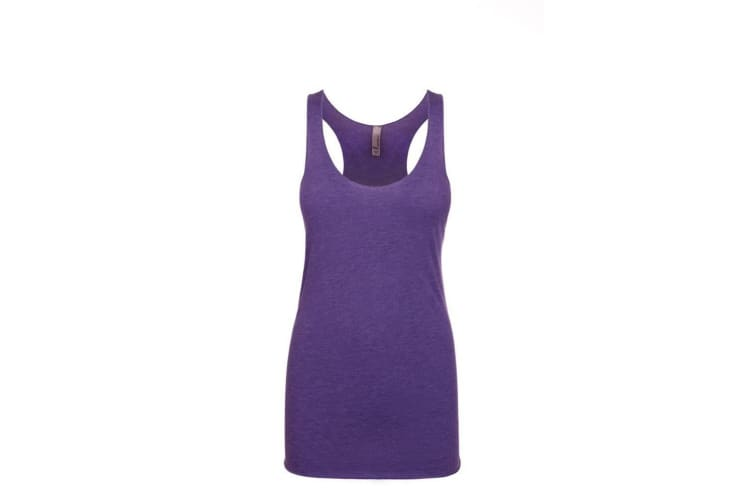 Next Level Womens/Ladies Tri-Blend Racer Back Tank Top (Purple Rush) (L)