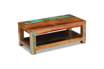 vidaXL Coffee Table Solid Reclaimed Wood 90x45x35 cm