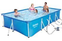 Bestway Steel Frame Above Ground Swimming Pool (Blue)