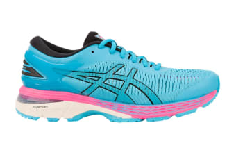 ASICS Women's Gel-Kayano 25 Running Shoe (Aquarium/Black, Size 7)