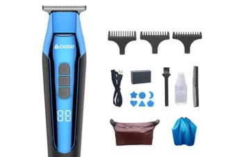 Select Mall Rechargeable Cordless Electric Hair Trimmer Hair Clippers Multi-Purpose Haircut Hair Cutting Kit-Blue