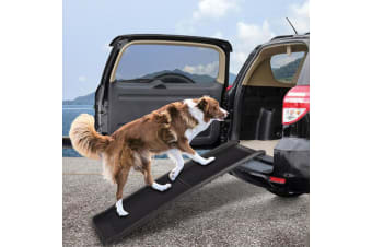 PaWz Folding Car Dog Pet Ramp Light Travel Truck Vans SUV Portable Ladder Steps