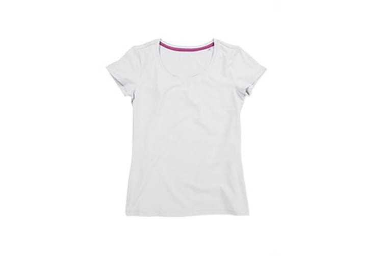 Stedman Womens/Ladies Claire Crew Neck Tee (White) (M)