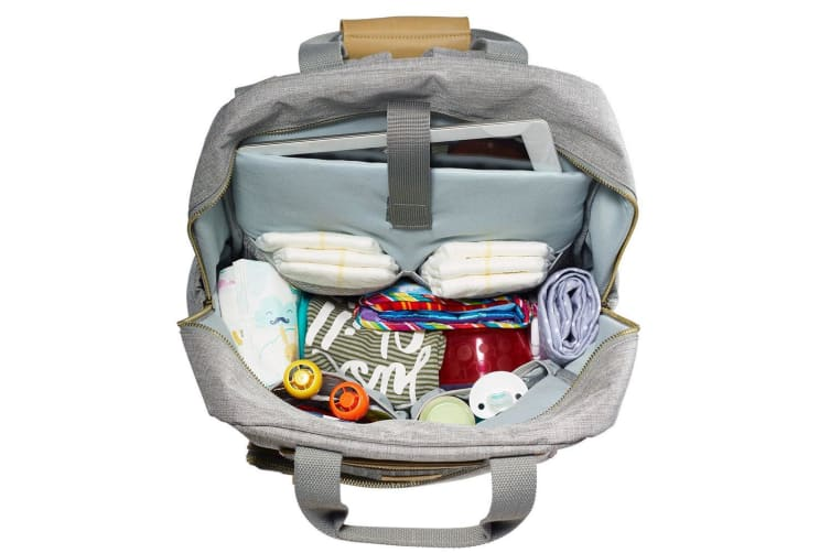 JJ Cole Papago Baby/Toddler Nappy/Diaper Backpack/Bag w/Changing Mat/Pad - Grey