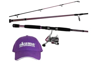 Okuma Temptress Ladies Fishing Rod and Reel Combo - 2 Pce Spin Combo (7ft/4-7kg/55 Reel)