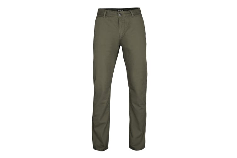 Asquith & Fox Mens Classic Casual Chinos/Trousers (Slate) (LR)
