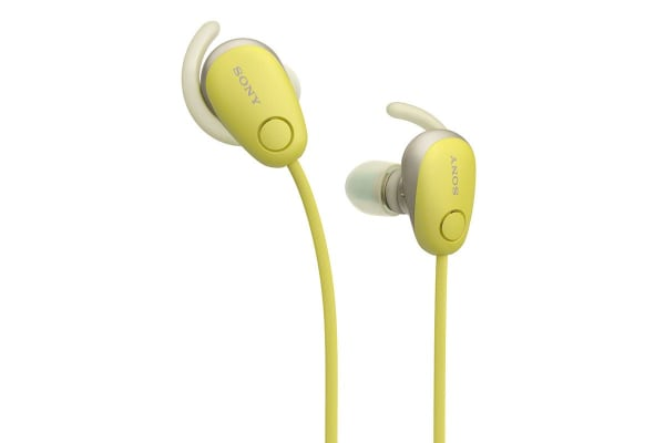 Sony In-Ear Sports Noice Cancelling Headphones with Bluetooth - Yellow (WISP600NY)