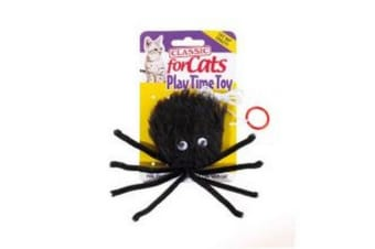 Classic Black Furry Spider Cat Toy (May Vary)