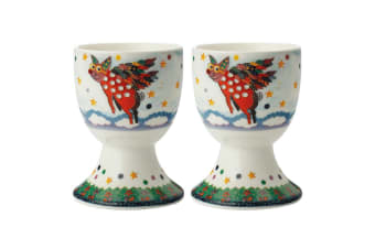2pc Maxwell & Williams Smile Style Egg Cup Holder Hard Boiled Stand Set Pigasus