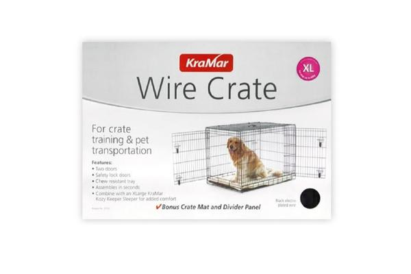 Petlife Wire Crate For Crate Training & Pet Transport - L