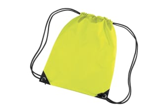 Bagbase Premium Gymsac Water Resistant Bag (11 Litres) (Fluoresent Yellow) (One Size)