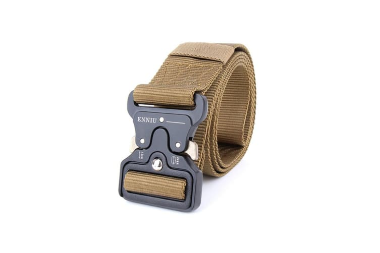 Mens Multi Function Tactical Heavy Duty Belt - Brown Brown