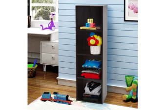 Wooden Storage Unit 4 Cube Strong Bookcase Shelving