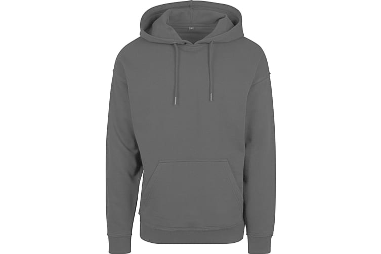 Build Your Brand Mens Oversize Hoodie (Charcoal) (2XL)