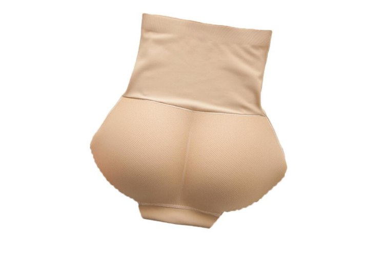 Seamless High Waist Butt Padded Panty With Tummy Trimmer Nude S