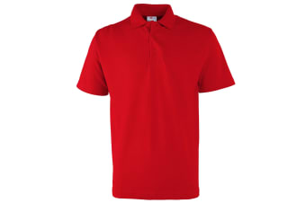 RTXtra Mens Pique Knit Classic Polo Shirt (Red)