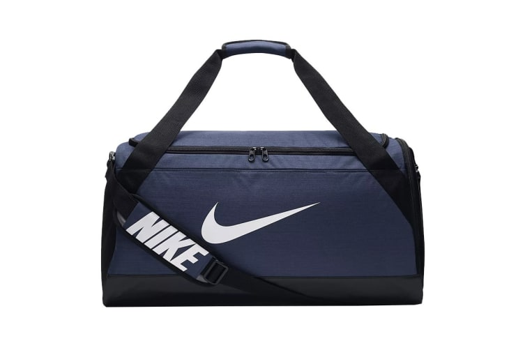 Nike Brasilia Medium Duffel Bag (Navy/Black/White)
