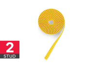 Building Block Tape (3m, 2 Stud, Yellow)