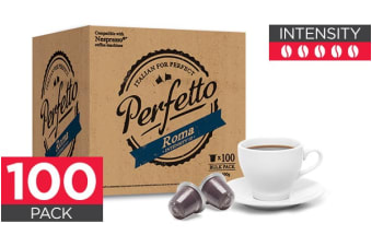 100 Pack Perfetto Nespresso Compatible Coffee Pods (Roma)