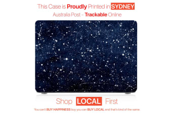 "Hard Case Cover for Apple Macbook Pro 13"" Inch  A1708-Matte Clear-Galaxy Star"