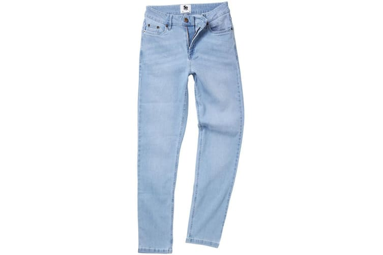 AWDis So Denim Womens/Ladies Katy Straight Jeans (Light Blue Wash) (14R)