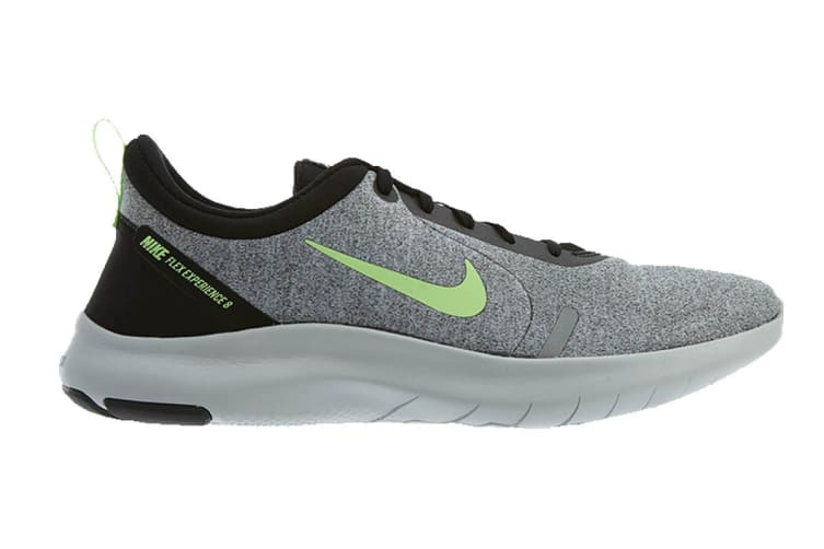 Nike Men's Flex Experience RN 8 (Grey/Lime, Size 10.5 US)