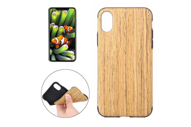 For iPhone XS X Back Case Modern Siam Rosewood Texture Durable Shielding Cover