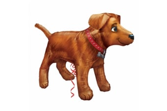 Amscan Supershape Golden Dog Balloon (Brown) (One Size)