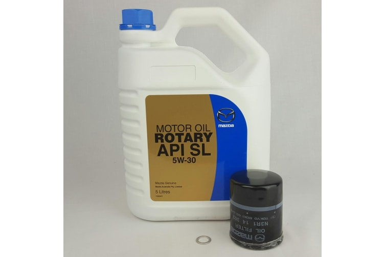 New Genuine Mazda RX-8 Mineral Rotary Oil 5W-30 and Oil Filter series 2