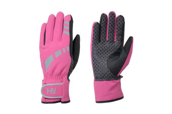Hy5 Adults Reflective Waterproof Multipurpose Gloves (Hot Pink/Grey)