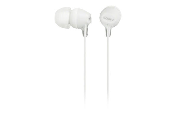 Sony Ex Series In-Ear Headphones With Smartphone Control - White (MDREX15APW)
