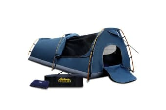 King Single Size Camping Swag - Dark Blue