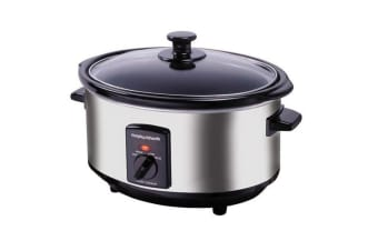Morphy Richards 48710 3.5L Electric Stainless Steel Slow Cooker/Ceramic Pot/Pan