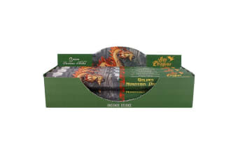 Age Of Dragons Golden Mountain Dragon Incense Sticks (6 Packs Of 20) (Green)