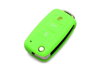 Protective Silicone Key Cover Keyless Entry Remote Fob Shell Green