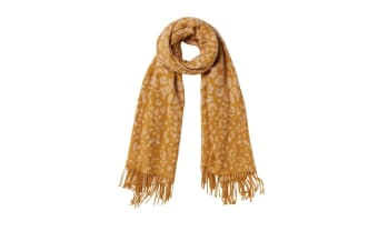 FatFace Womens/Ladies Leopard Jacquard Scarf (Mustard)