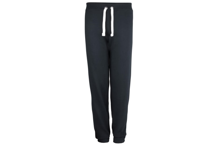Awdis Girlie Ladies Cuffed Jogging Bottoms / Sweatpants (French Navy) (L)