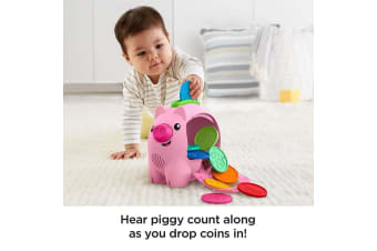 Fisher-Price Laugh & Learn Count and Rumble Piggy Bank