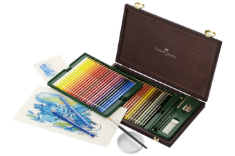 Faber-Castell Albrecht Dürer 48 Piece Watercolour Pencil Set in Wood Case