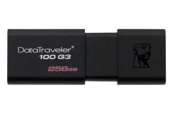 KINGSTON DT100G3/256GB, 256GB USB 3.0 DATATRAVELER 100 G3 USB Drive 100MB/s read